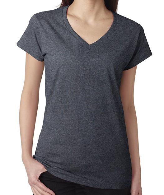 Gildan® Softstyle® Ladies' V-Neck T-Shirt - Style: 64V00L