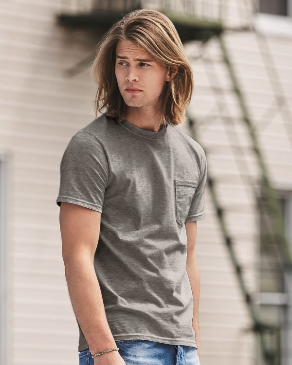 Anvil Midweight Short Sleeve Pocket T-Shirt - Style: 783